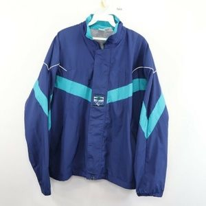 Vintage Asics Spell Out Color Block Jacket Blue